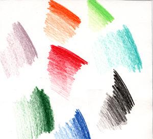 نقاشی با خودکار رنگی ساده